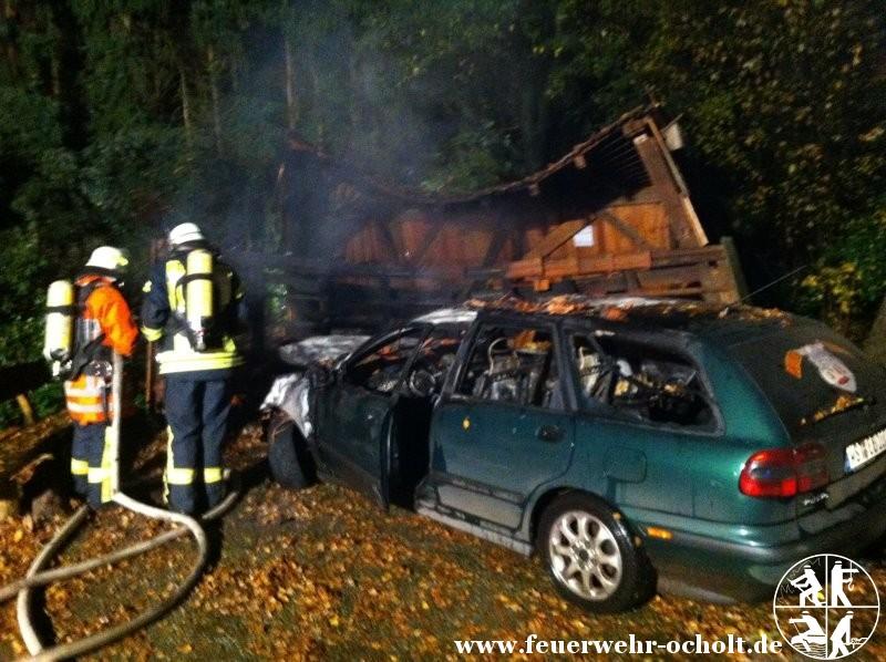 24.10.2012 um 06:33 Uhr – Verkehrsunfall mit Brandentwicklung