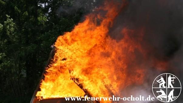 29.06.2013 um 12:50 Uhr – Bauernhofbrand Ollenharde