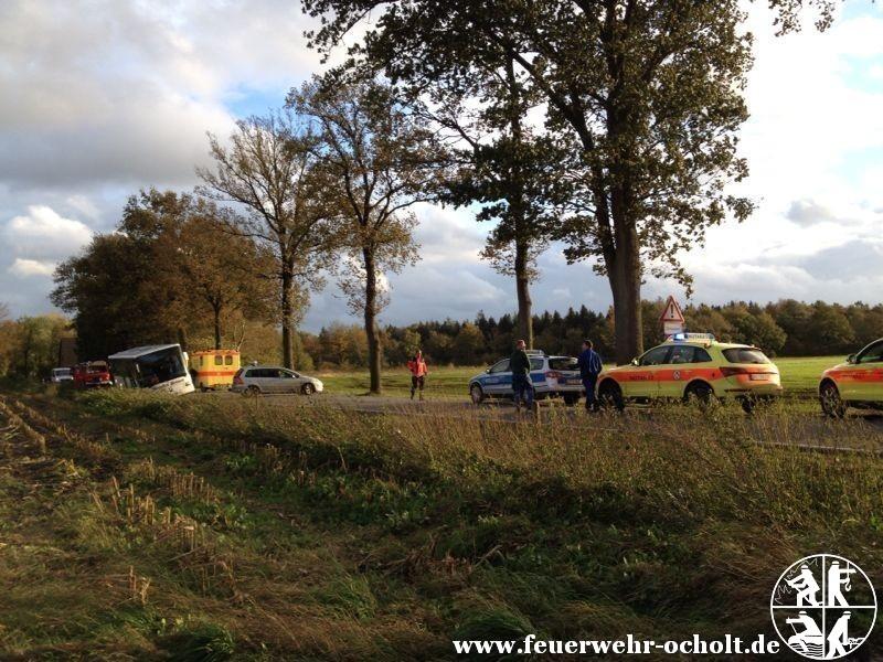 28.10.2013 um 15:58 Uhr – Verkehrsunfall mit Schulbus