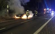 Am 12.11.2016 um 02:39 Uhr - Fahrzeugbrand klein Rosenkrug Lindern