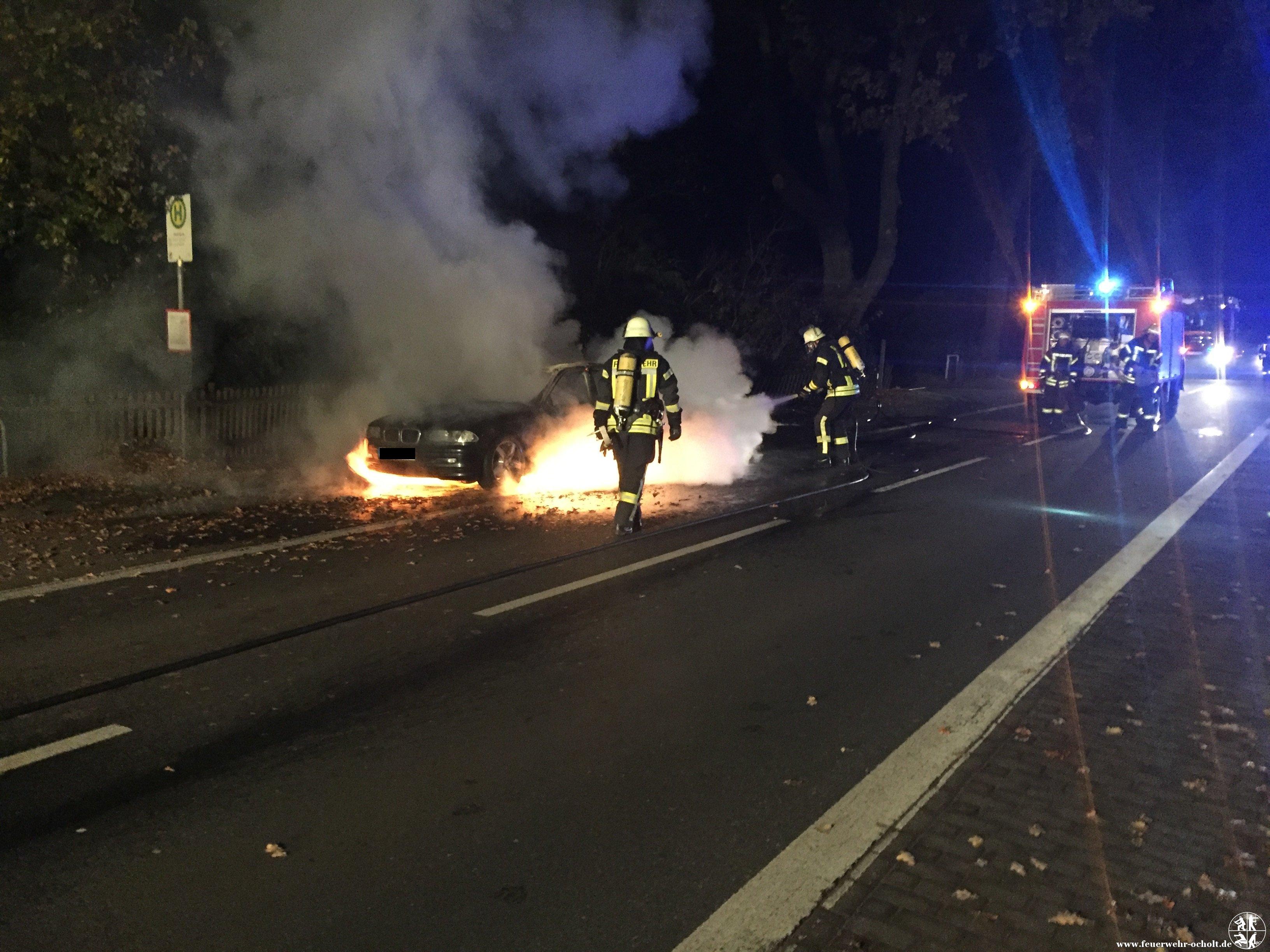 Am 12.11.2016 um 02:39 Uhr – Fahrzeugbrand klein Rosenkrug Lindern