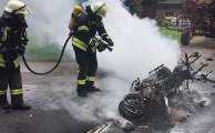 Am 25.06.2017 Um 13:03Uhr - Brennt Motorrad nach Verkehrsunfall